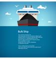 Bulk Ship Poster Brochure vector image