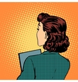 businesswoman back business style vector image vector image
