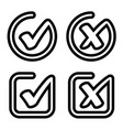 check mark approved rejected symbol vector image vector image