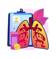 chronic obstructive pulmonary disease abstract vector image vector image