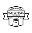 coffee house emblem template design element vector image
