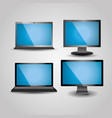 collection of gadgets technology wireless device vector image