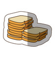 color white bread icon vector image