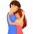 couple hugging vector image vector image