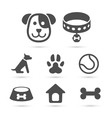 Cute dog icon symbol set on white vector image vector image