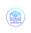 data protection line icon vector image vector image