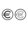 euro currency symbol isolated on white european vector image vector image