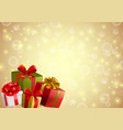 festive backgroung with gifts vector image vector image
