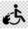 fired disabled person icon vector image vector image