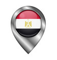 flag egypt sign and icon location symbol vector image vector image