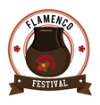 Flamenco culture design vector image vector image