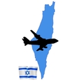 fly me to the Israel vector image vector image