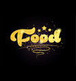 food star golden color word text logo icon vector image vector image