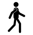 going man icon vector image vector image