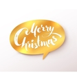 Golden Merry Christmas banner vector image vector image