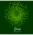 green fireworks with leaves for happy diwali vector image