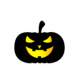 halloween pumpkin icon symbol vector image
