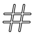 hashtag black color icon vector image