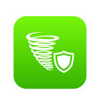 hurricane protection icon green vector image