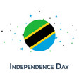 independence day of tanzania patriotic banner vector image vector image