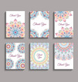 invitations mandala design templates vector image