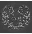 Love card Hand drawn lettering design vector image vector image