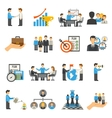 Management Icons Set vector image vector image