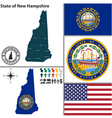 Map of New Hampshire with seal