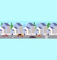 modern city street urban district new buildings vector image