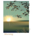Morning sunrise summer vector image vector image