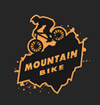 mountain bike emblem vector image