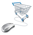 mouse shopping cart vector image