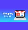online shop ecommerce store laptop buy vector image