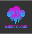 outline music cloud icon music cloud vector image vector image