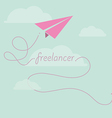 Paper plane as freelancer vector image