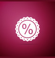percent symbol discount icon isolated vector image vector image