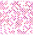 pink seamless dot pattern background - graphic vector image vector image