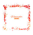 red watercolor frame vector image