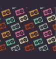 retro cassettes vector image