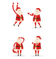 santa and christmas collection vector image