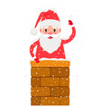 santa in chimney vector image