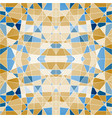 seamless pattern mosaic with blue pieces vector image