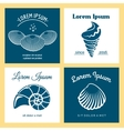 Seashells nautical logo templates set vector image vector image