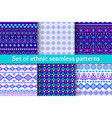 set six ethnic seamless patterns vector image