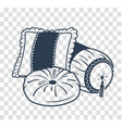 silhouette cushion set icon vector image vector image