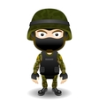 Soldier character in mask vector image