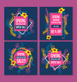 spring sale design collection banner with floral vector image vector image