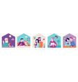 stay at home concept design house facade vector image vector image