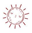 sun weather summer cartoon isolated icon design vector image vector image