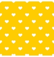Tile cute pattern with white hearts on yellow vector image